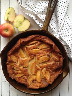 Caramel apple clafoutis