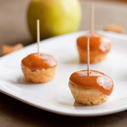 Caramel Apple Mini Cupcakes