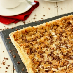 Caramel Tart with Almonds Coconut and Marshmallows Recipe