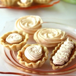Caramel Tarts with Baked Meringue