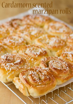 Cardamom Scented Marzipan Rolls
