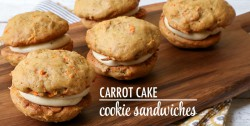 Carrot Cake Cookie Sandwiches with Brown Sugar Cream Cheese Filling Recipe