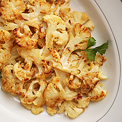 Cauliflower Roasted with Lemon Dijon Butter Recipe