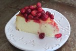 Cheesecake with Cranberry Maple Compote Recipe