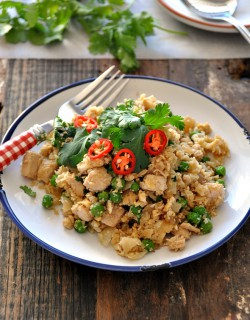 Chicken Pea and Coriander Fried Cauliflower Rice Recipe