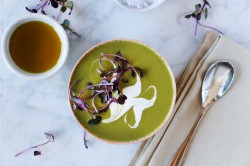 Chilled Pea and Sorrel Soup