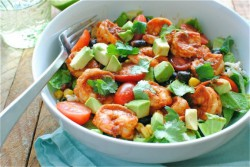 Chipotle Shrimp Salad Bowls