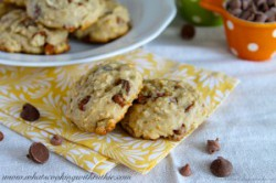 Choc Chip Oatmeal Banana Cookies