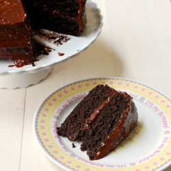 Chocolate Caramel Sea Salt Cake Recipe