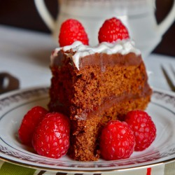 Chocolate fudge raspberry cake