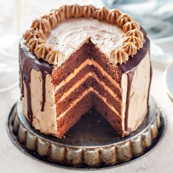 Chocolate Layer Cake with Salted Caramel Buttercream Recipe