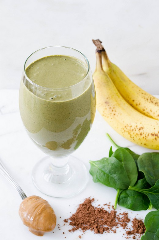 Chocolate PB Green Smoothie
