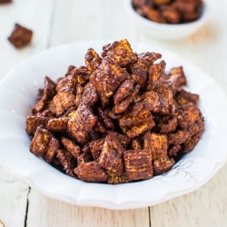 Chocolate Peanut Butter Snack Mix Recipe