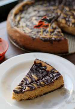 Chocolate Stout Swirled Pumpkin Cheesecake Recipe