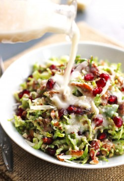 Chopped Brussels Sprout Salad with Shallot Dressing Recipe