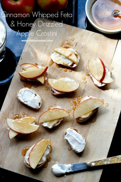 Cinnamon Whipped Feta and Apple Crostini Recipe