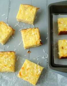 Coconut Cassava Bars Recipe
