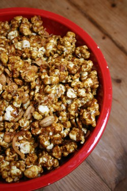 Coconut Curry Caramel Corn