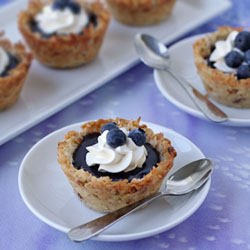 Coconut Macaroon Cups with Blueberry Curd Recipe