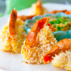 Coconut Shrimp with Mineola Salad Recipe
