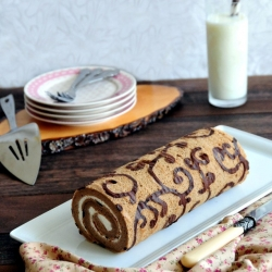 Coffee Swiss Roll Cake Recipe