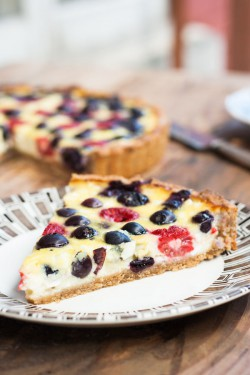 Cottage Cheese Tart with Berries