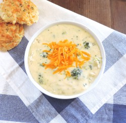 Cream of Broccoli Cheddar Soup Recipe