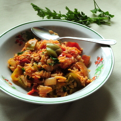 Croatian Vegetarian Goulash with Peppers and Tomatoes Recipe