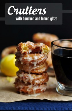 Crullers with Bourbon and Lemon