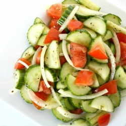 Cucumber Salad with White Wine Vinegar Dressing Recipe