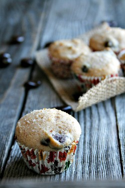 Dark Chocolate Cranberry Muffins Recipe
