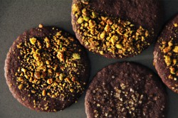 Dark Chocolate Pistachio Sables