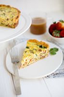Deep Dish Bacon Spinach Quiche