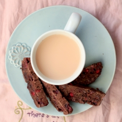 Double Chocolate Cranberry Biscotti