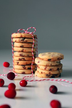 Dried Cranberry Shortbread Recipe