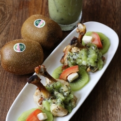 Drumlets with Kiwifruit and Mint