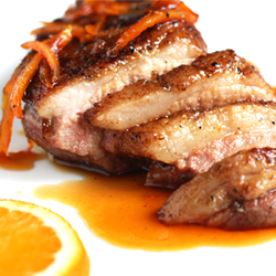 Duck with Orange Gastrique