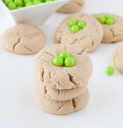 Easy Peanut Butter Shamrock Cookies