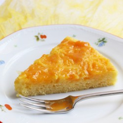 Eggless and low-cal Orange Cake