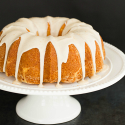 Eggnog Bundt Cake with Rum Icing Recipe