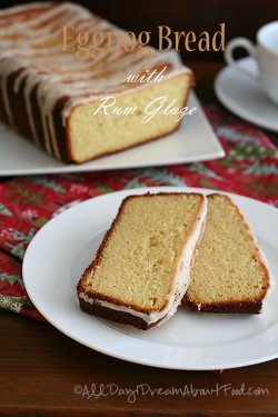 Eggnog Quick Bread with Rum Glaze Recipe