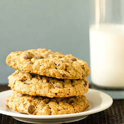 Espresso Oatmeal Choc Chip Cookies