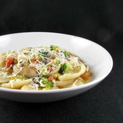 Fresh Orecchiette Pasta with Sauteed Vegetable Broth