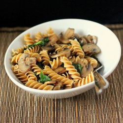Fusilli with Mushrooms