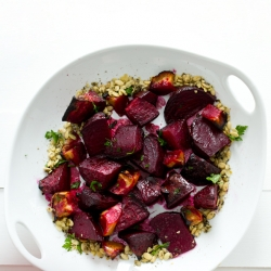 Ginger Maple Roasted Beets and Apples Recipe