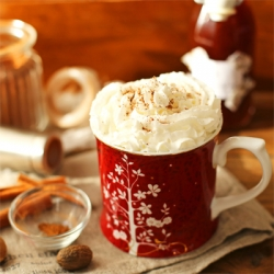 Gingerbread Latte with Whipped Cream Recipe