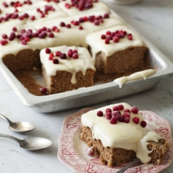 Gingerbread with Lingonberry Frosting Recipe
