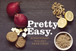 Gingersnap Walnut Pear Crisp Recipe