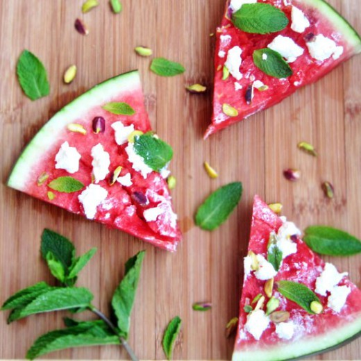 Gluten Free Watermelon Pizza