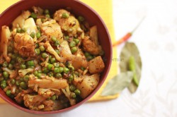 Gobi Matar/Cauliflower cooked with